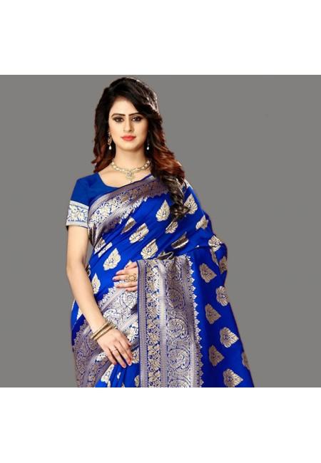 Royal Blue Color Designer Soft Banarasi Silk Saree (She Saree 658)