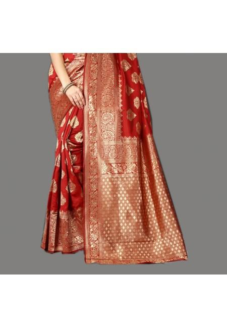 Maroon Color Designer Soft Banarasi Silk Saree (She Saree 660)