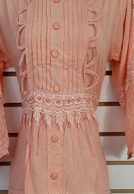Light Peach Color Linen Designer Women Top (She Top 507)