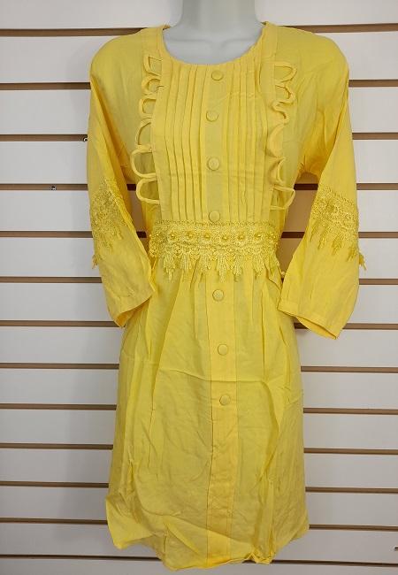 Light Yellow Color Linen Designer Women Top (She Top 509)