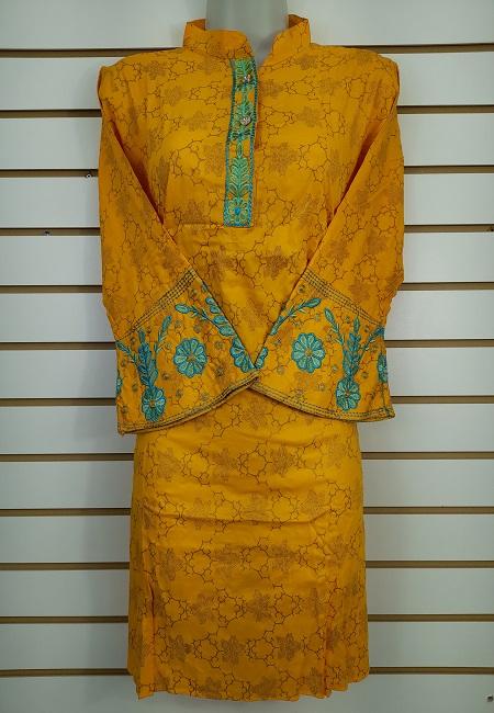 Mustard Color Western Style Designer Top  (She Top 510)