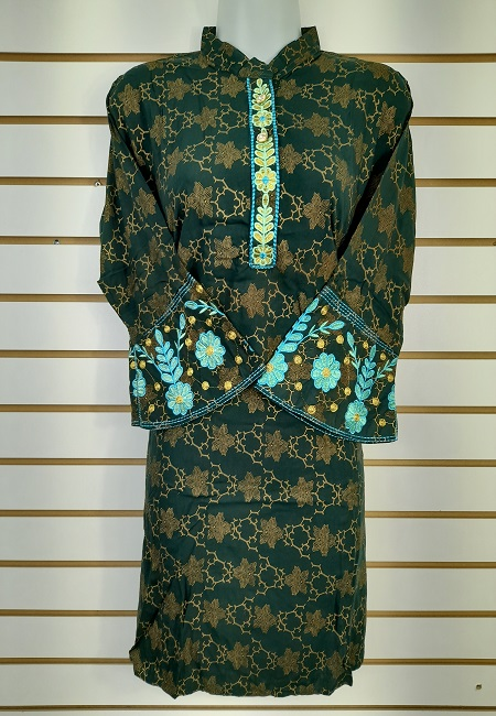 Deep Bottle Green Color Western Style Designer Top  (She Top 511)