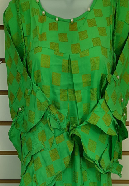 Parrot Green Color Western Style Designer Top (She Top 513)